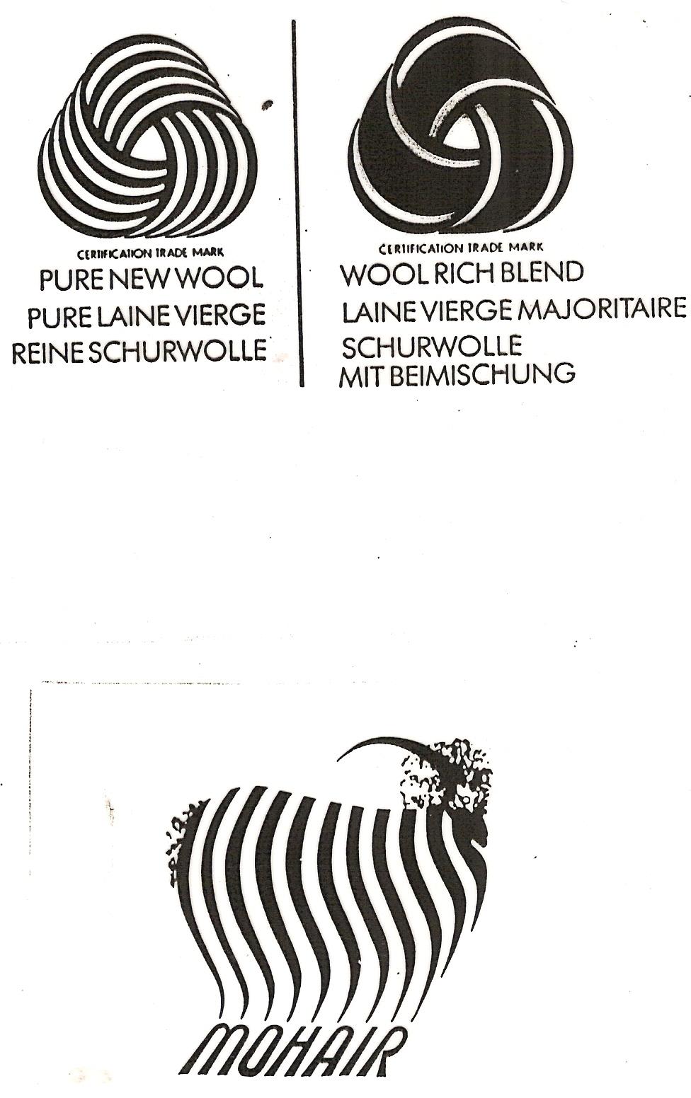 piktogramy k označování vlněných výrobků